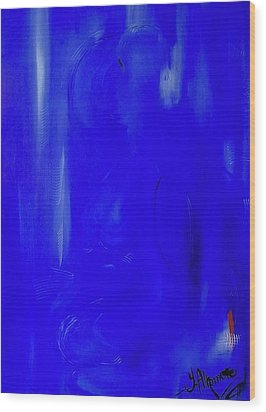 Blue Lust Wood Print