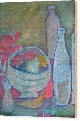 Blue Wood Print by Marlene Robbins