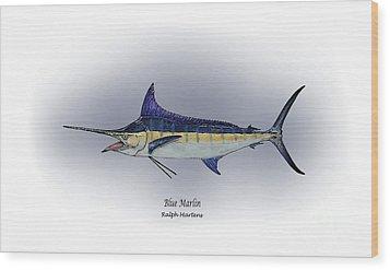 Blue Marlin Wood Print by Ralph Martens