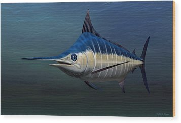 Blue Marlin Wood Print by Walter Colvin