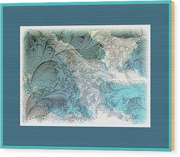 Wood Print featuring the photograph Blue Maze by Athala Carole Bruckner
