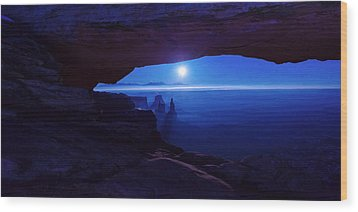 Blue Mesa Arch Wood Print by Chad Dutson