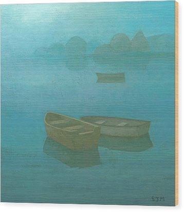 Blue Mist Wood Print by Steve Mitchell