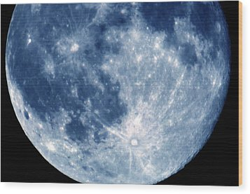 Blue Moon 7-31-15 Wood Print