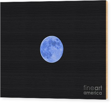 Blue Moon Wood Print by Al Powell Photography USA