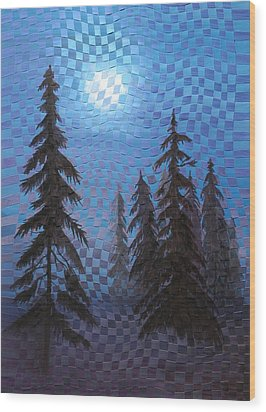Blue Moon Wood Print by Linda L Doucette