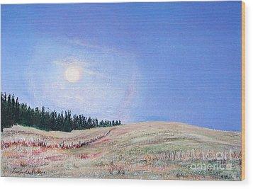 Blue Moon Wood Print by Lucinda  Hansen