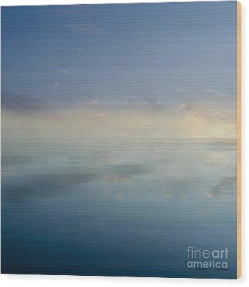 Blue Morning At Glendale Wood Print by Dave Gordon