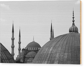 Blue Mosque, Istanbul Wood Print by Dave Lansley