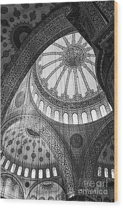Blue Mosque Wood Print by Leslie Leda