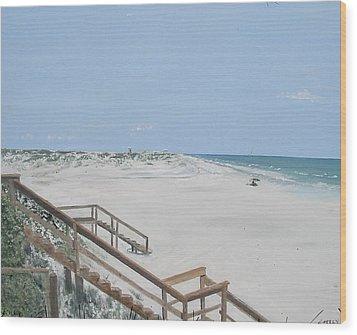 Blue Mountain Beach II Wood Print by John Terry
