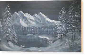 Blue Night Wood Print by Anthony Meton