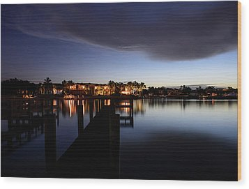 Wood Print featuring the photograph Blue Night by Laura Fasulo