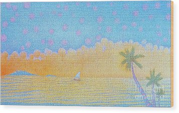 Blue Nile Wood Print