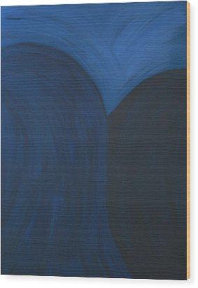 Blue No. 1 Wood Print by Karen Fowler