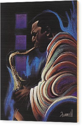 Blue Note Wood Print by Albert Fennell