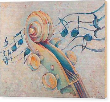 Blue Notes Wood Print by Susanne Clark