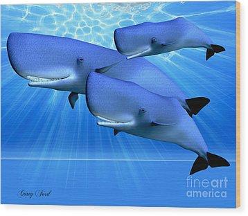 Blue Ocean Wood Print by Corey Ford