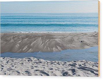 Blue Ocean Wood Print by Martin Capek