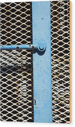 Wood Print featuring the photograph Blue On White by Karol Livote