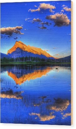 Wood Print featuring the photograph Blue Orange Mountain by Test Testerton