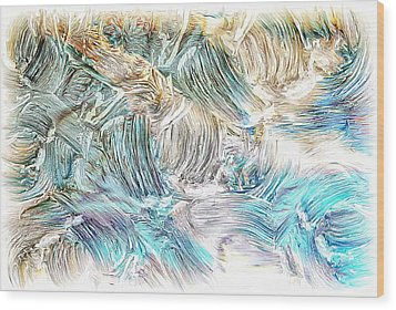 Wood Print featuring the photograph Blue Palette by Athala Carole Bruckner