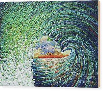 Blue Pipeline Wood Print by Gayle Utter