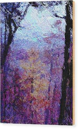 Blue Ridge Autumn Wood Print