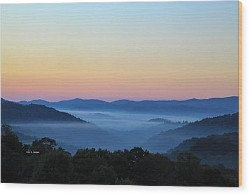 Blue Ridge Dawn Wood Print by Dale R Carlson