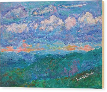 Blue Ridge Magic From Sharp Top Stage One Wood Print by Kendall Kessler
