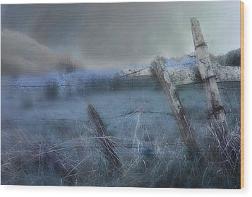 Wood Print featuring the painting Blue Ridge Morning by Gray  Artus