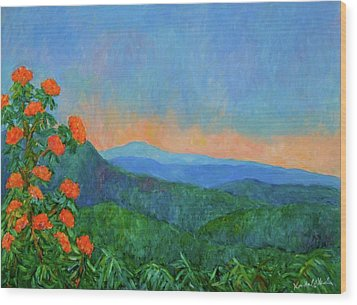 Blue Ridge Morning Wood Print by Kendall Kessler