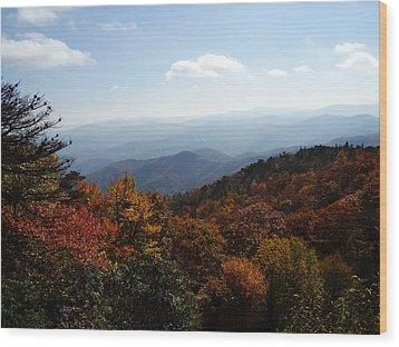 Blue Ridge Mountains Wood Print by Flavia Westerwelle