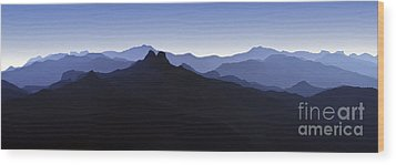 Wood Print featuring the photograph Blue Ridge Mountains. Pacific Crest Trail by David Zanzinger