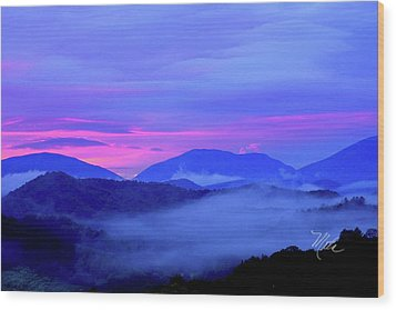 Blue Ridge Mountains Sunset Wood Print