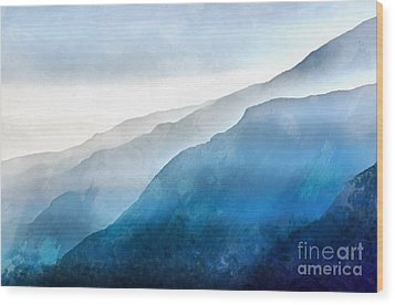 Wood Print featuring the painting Blue Ridge Mountians by Edward Fielding