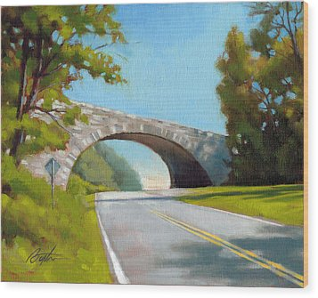 Blue Ridge Overpass Wood Print by Todd Baxter
