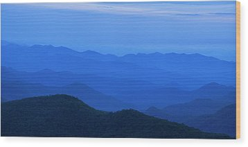 Blue Ridge Panorama Wood Print