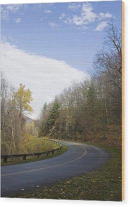 Blue Ridge Parkway Wood Print by Alan Raasch