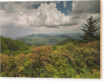 Blue Ridge Parkway Green Knob Overlook Wood Print