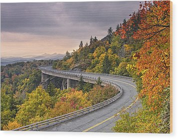 Lynn Cove Viaduct-blue Ridge Parkway  Wood Print