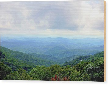 Blue Ridge Parkway Overlook Wood Print