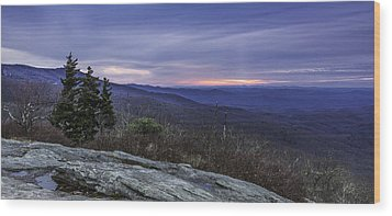 Blue Ridge Parkway Sunrise Wood Print