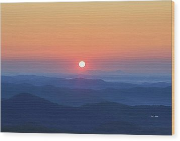 Blue Ridge Sunrise Wood Print by Dale R Carlson