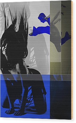 Blue Romance Wood Print by Naxart Studio