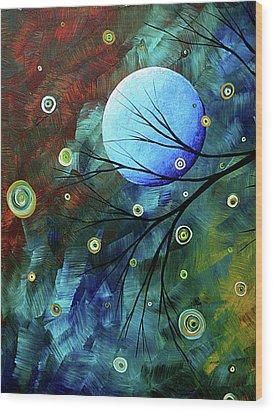 Blue Sapphire 1 By Madart Wood Print by Megan Duncanson