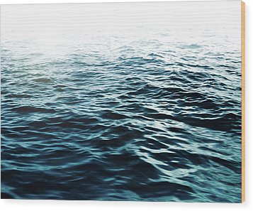 Wood Print featuring the photograph Blue Sea by Nicklas Gustafsson