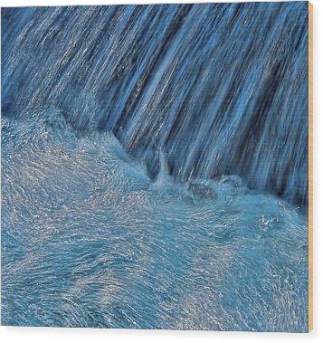 Wood Print featuring the photograph Blue Seam by Britt Runyon