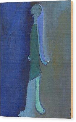 Blue Shadow Wood Print by Ricky Sencion