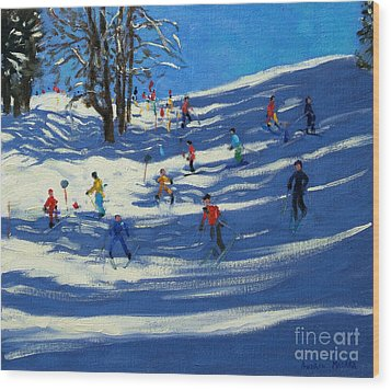Blue Shadows Wood Print by Andrew Macara